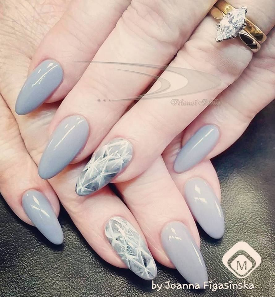 Perfect for Winter! # Nails with One Coat Color Gel Grey ...
