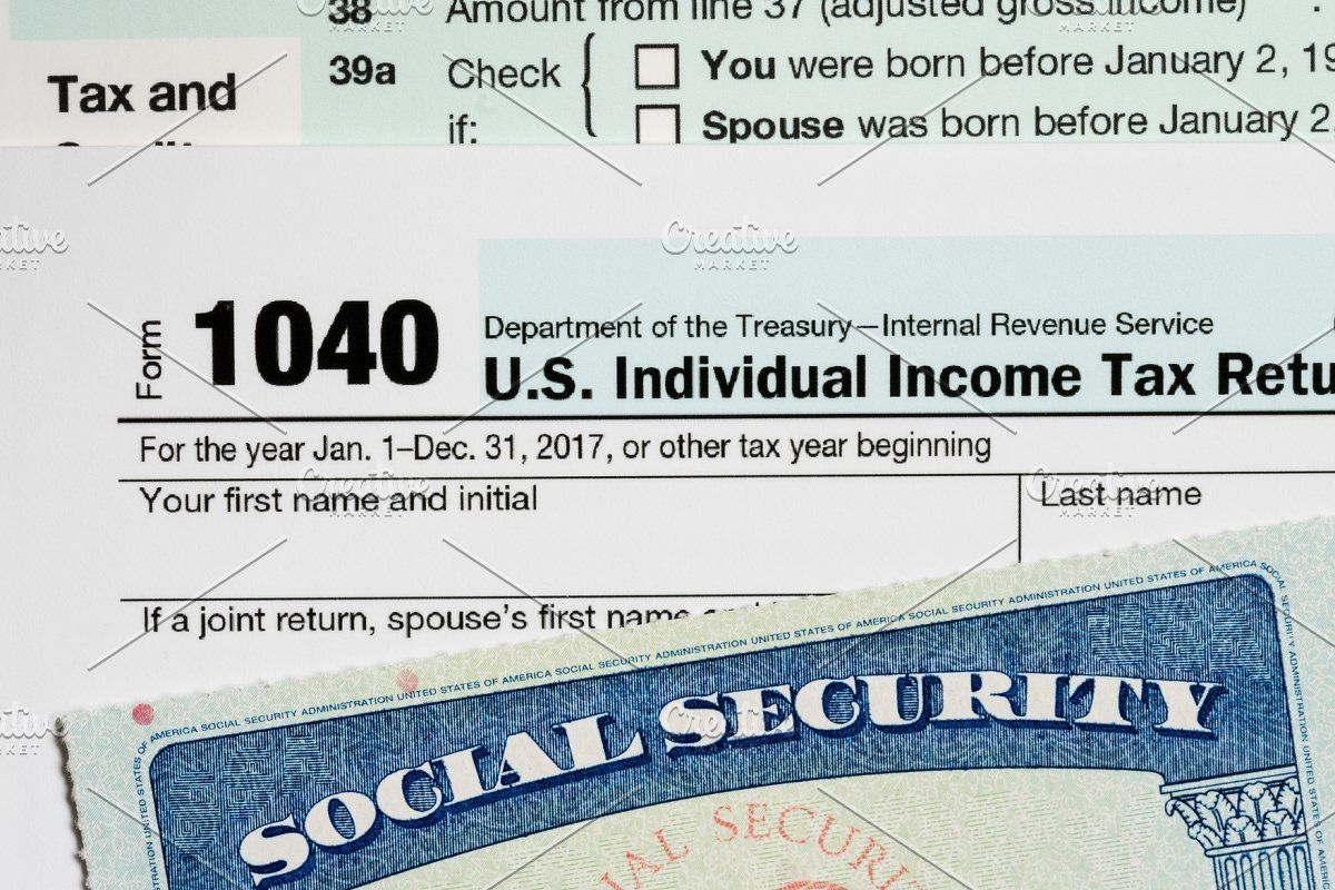 Usa Social Security Card On Calculations Of Tax For Retirement Social Security Card Retirement Tax Return