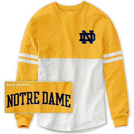 Product University Of Notre Dame Women S Ra Ra Long Sleeve T Shirt