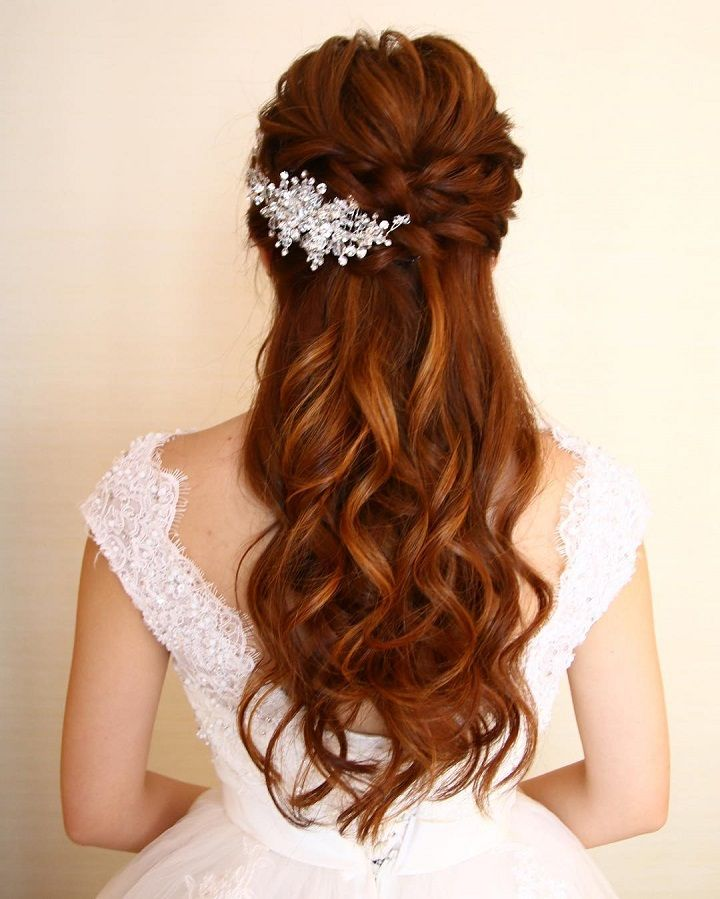 Wedding Updos For Long Hair: Pretty Half Up Half Down Wedding Hairstyles