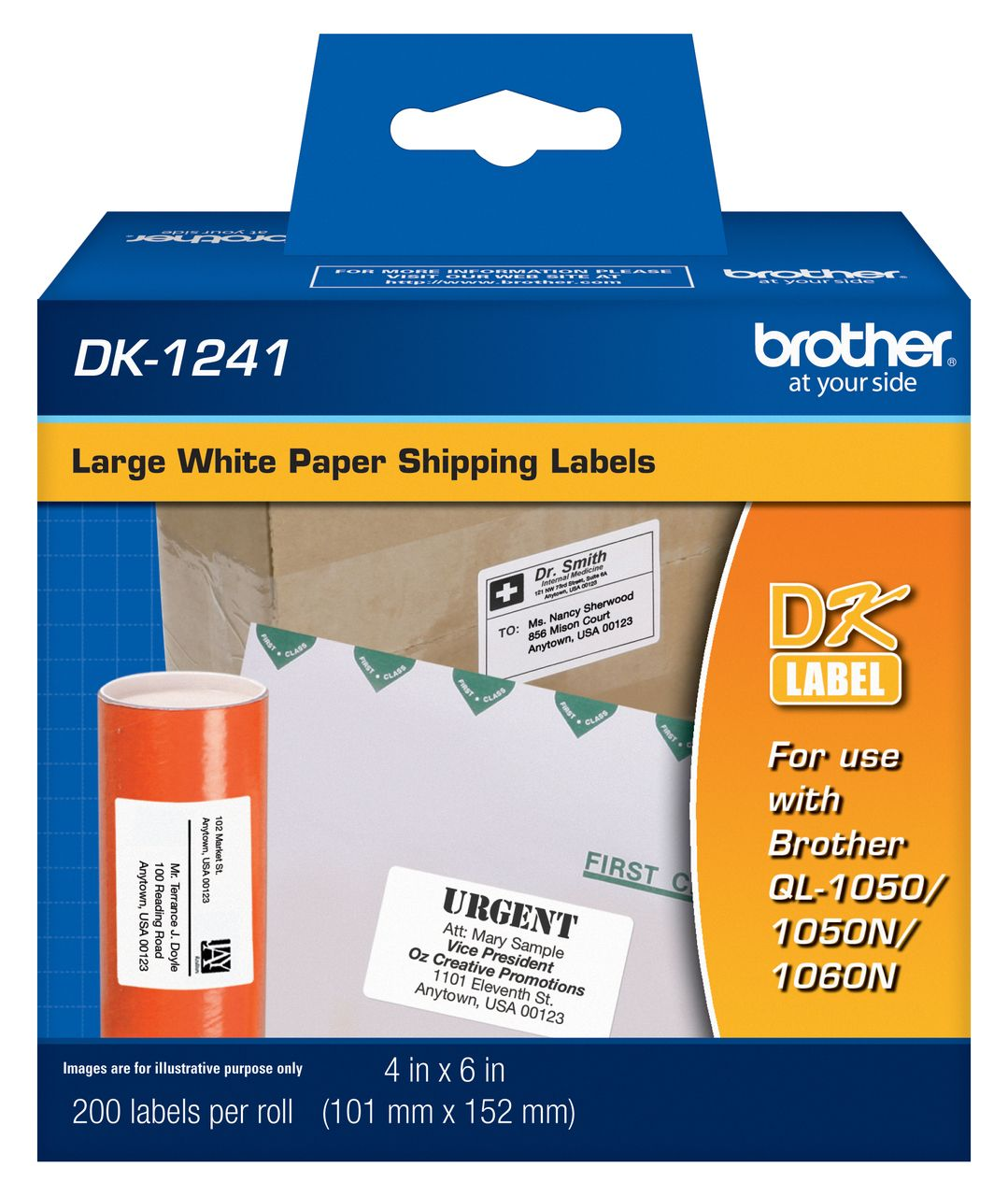 Brother DK1241 Large Shipping Labels How to make labels