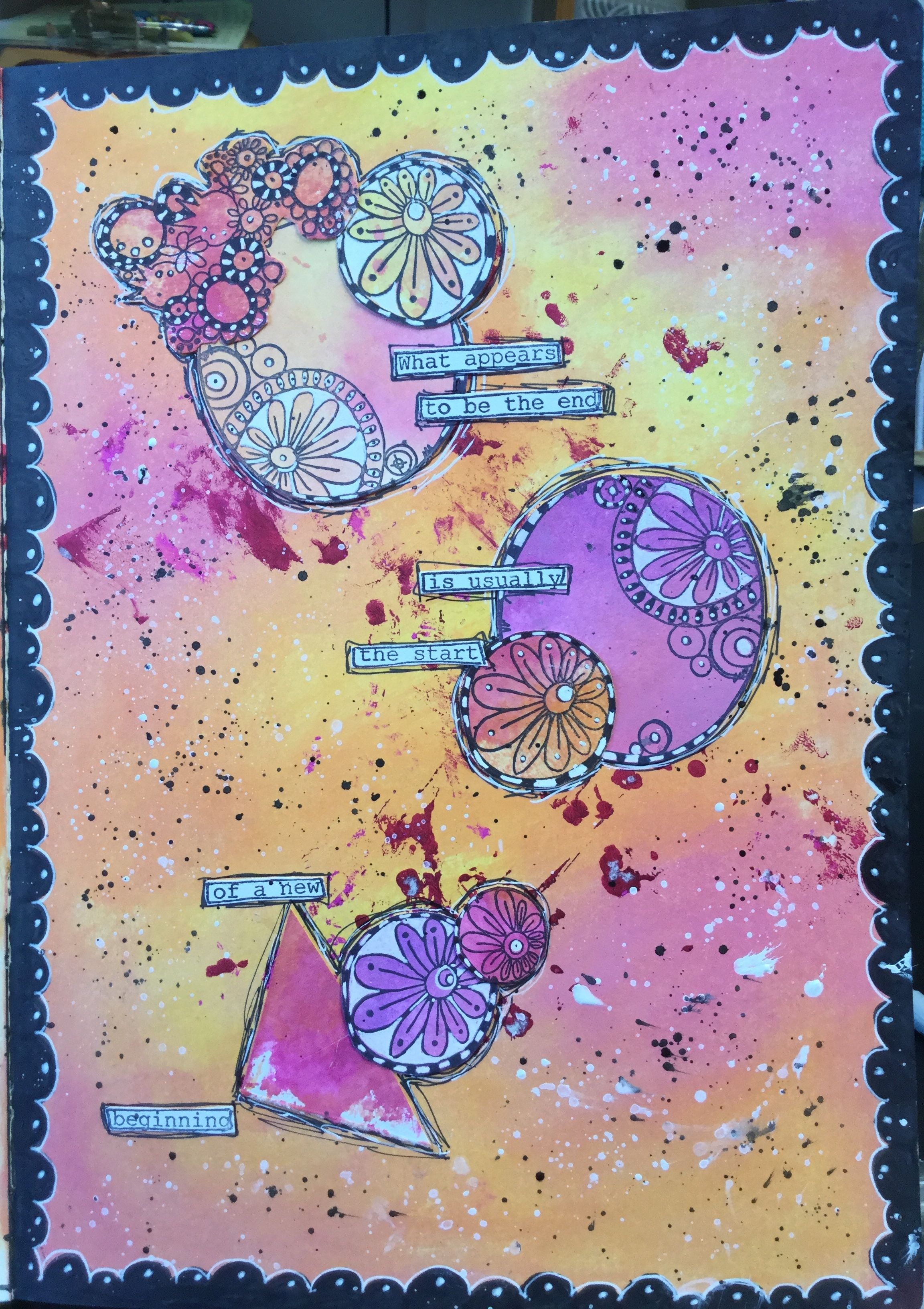 Art Journal Page Jofy Stamps Cartes Art Et Mixed Media