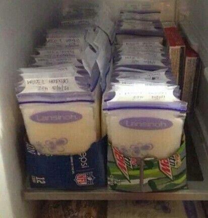 freezer trays storage milk Breast