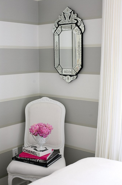 Pretty In Pink Pink Rooms Striped Walls Striped Walls Horizontal Grey Striped Walls