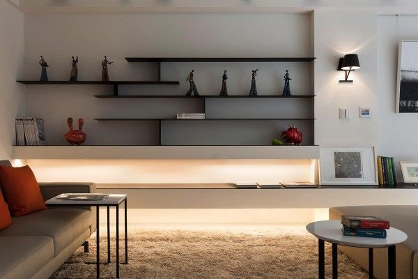 Some Stunningly Beautiful Examples Of Modern Asian Minimalistic Decor Floating Shelves Living Room Living Room Shelves Living Room Wall