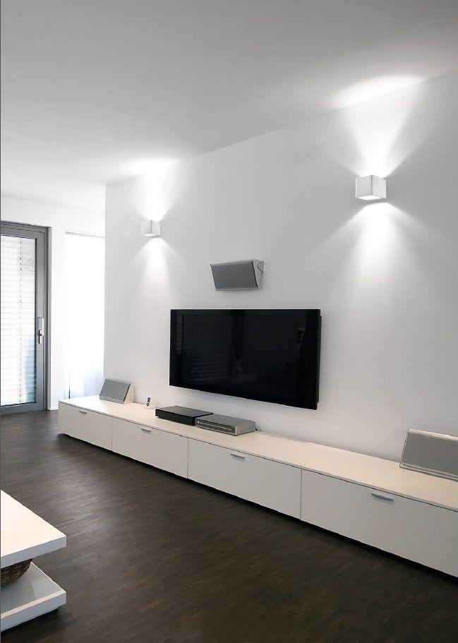 Applique illuminazione a led serie atlas doppia emissione luce 1x6w 3500k muro tv pinterest - Illuminazione led soggiorno ...