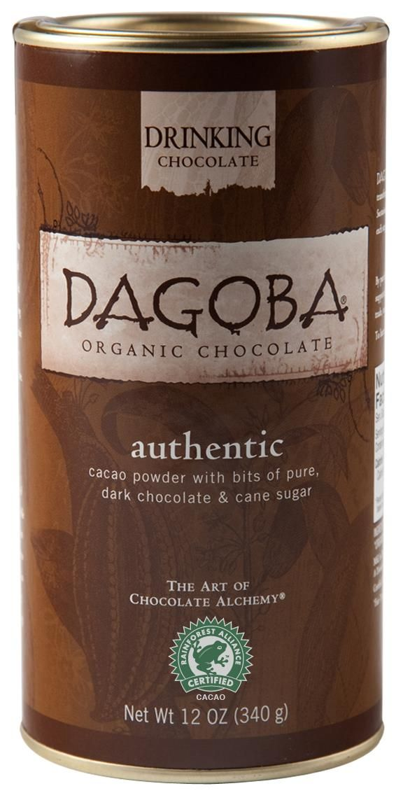 New from Dagoba, Drinking Chocolate with the Rainforest Alliance Certified seal -- yum!