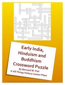 Early India Hinduism And Buddhism Crossword Puzzle Social
