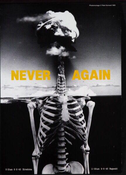 Never again Peter Kennard  Photomontage