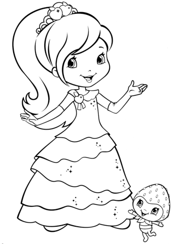 Plum Pudding And Berrykin Coloring Page Strawberry Shortcake Coloring Pages Cartoon Coloring Pages Coloring Pages