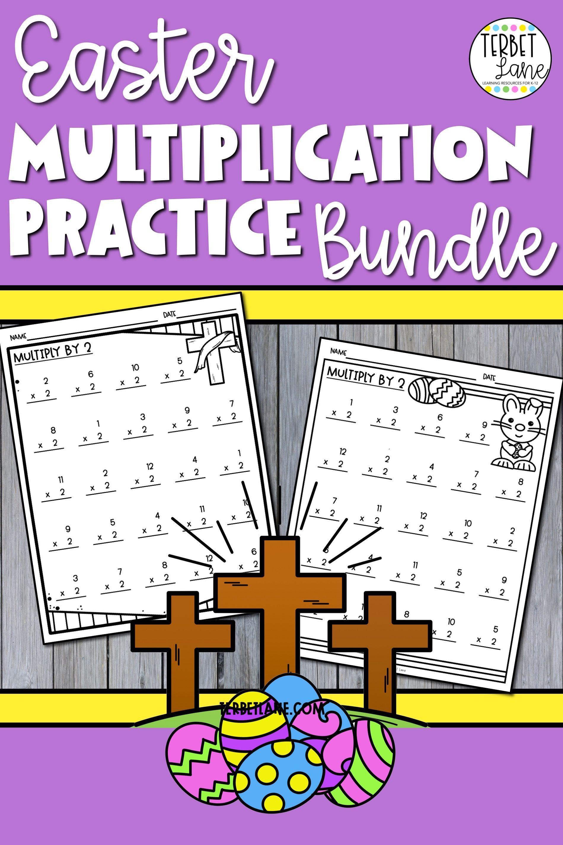 Easter Multiplication Worksheet Bundle