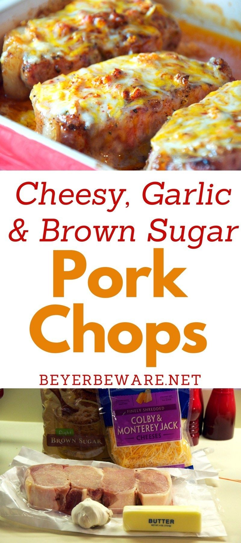 Cheesy Garlic and Brown Sugar Pork Chops - Beyer Beware