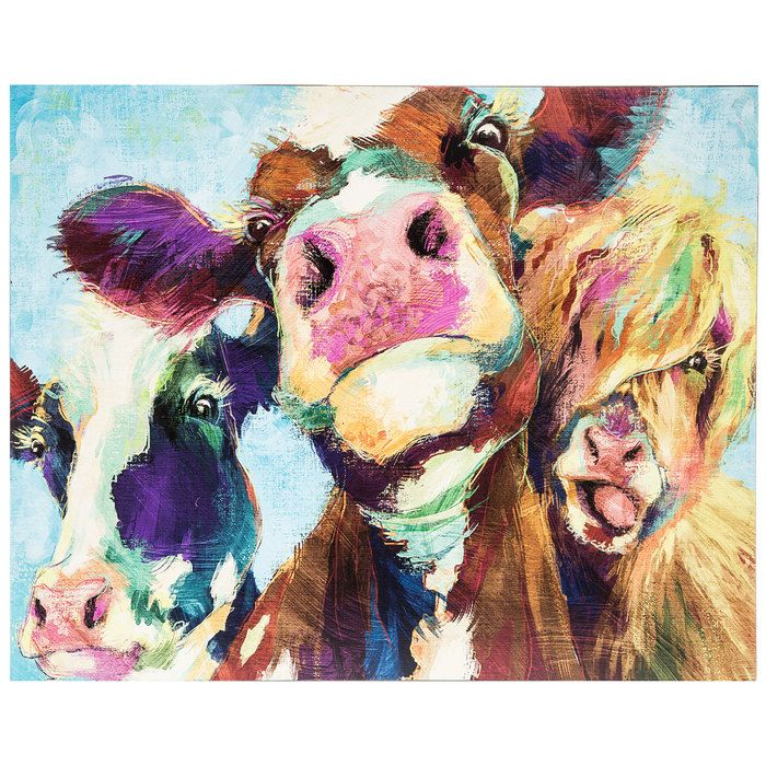 Painted Cows Wood Wall Decor | My Style | Pinterest