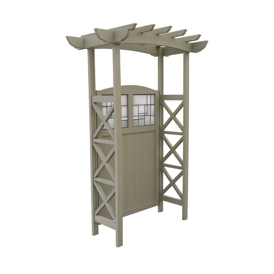 Good Yardistry Stained Classic Garden Gated Arbor With X Panel At Loweu0027s Canada