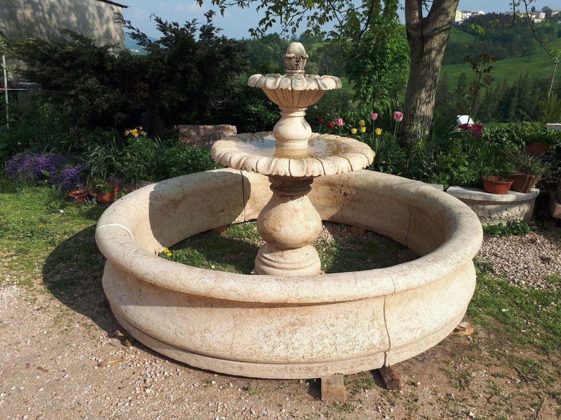 Fontana In Marmo Botticino Campostrini Lavorazione Artistica Marmo Outdoor Decor Home Decor Decor