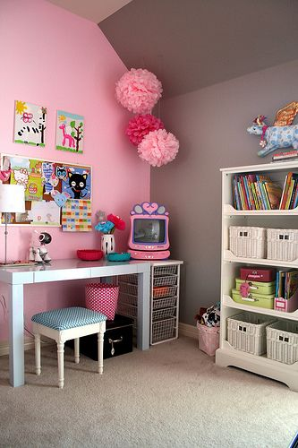 Suzie Baby Space Sweet Girl S Room With Gray Pink Walls Paint Color
