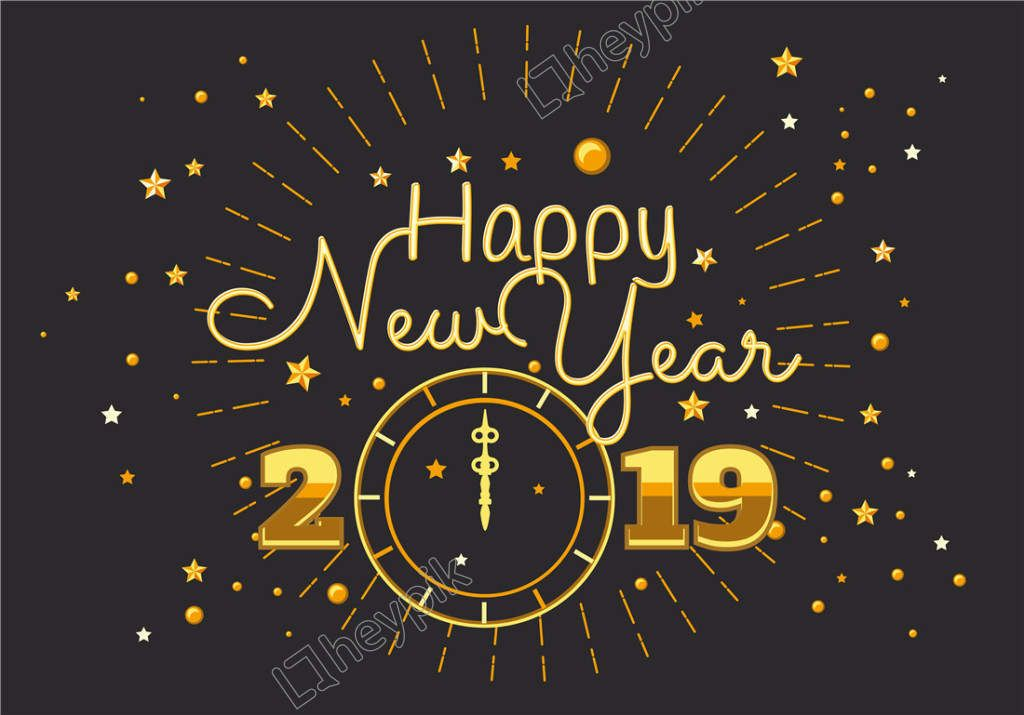 Flat Vector 2019 New Year Countdown Poster Happy New Year Gif Happy New Year Images Happy New Year Wishes