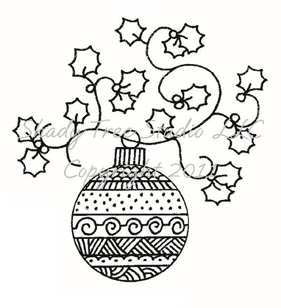 ornament card   Zentangle   Pinterest   Navidad, Dibujos para bordar ...