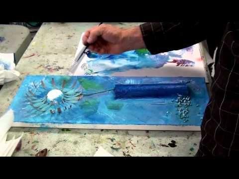 Atelier de créativité en peinture acrylique Collages et textures - apprendre a peindre un mur