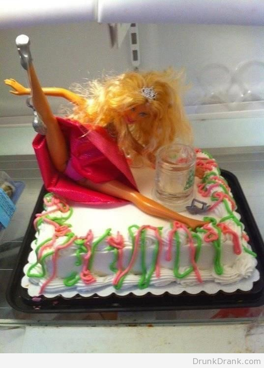 Drunk Barbie Cake