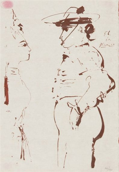 Pablo Picasso Untitled Dimensions:  23.23 X 17.32 in (59 X 44 cm) Medium:  Lithograph on paper Creation Date:  1960 Edition Number:  111/175 Signed