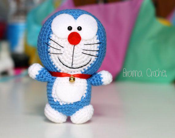 Amigurumi Doraemon Free Pattern : Doraemon · kawaii amigurumi crochet doll · handmade crochet toy