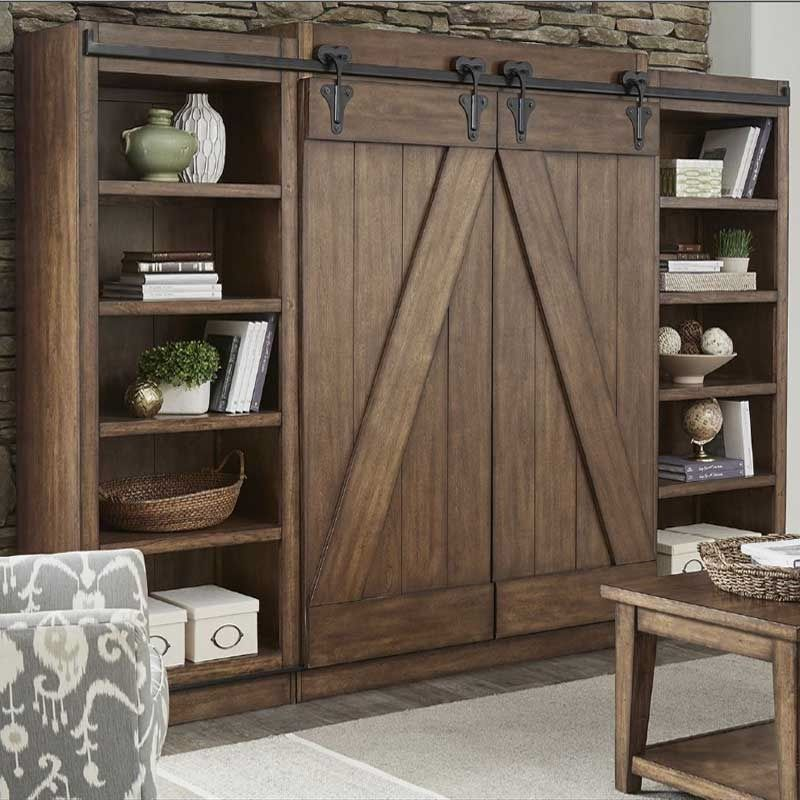 lancaster rustic sliding barn door wal furniture and. Black Bedroom Furniture Sets. Home Design Ideas