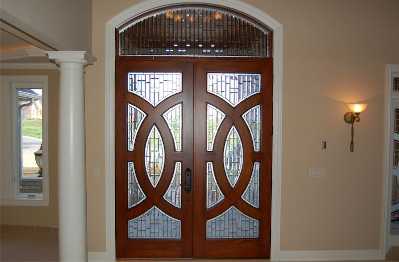 Upgrademydoor Geometric Shapes And Glass Combine For An