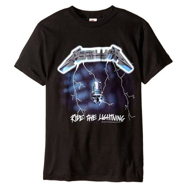 Metallica Ride the Lightning T-shirt ($17) ❤ liked on Polyvore featuring tops and t-shirts