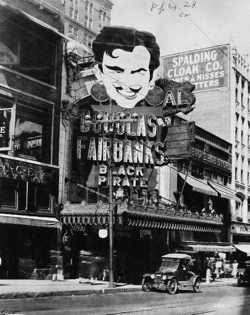 Black Pirate Starring Douglas Fairbanks Playing At The Royal