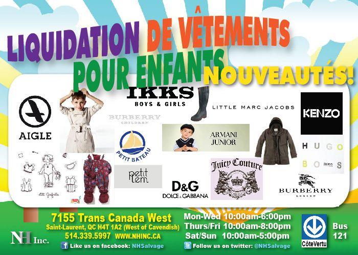 NOUVEAUX PRODUITS EN MAGASIN MAINTENANT Vtements Pour Enfants De Marques Tels Little Marc Jacobs