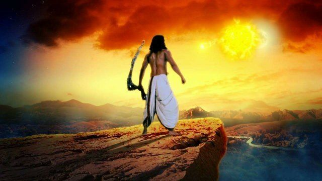 Image result for Karna in offering water to surya