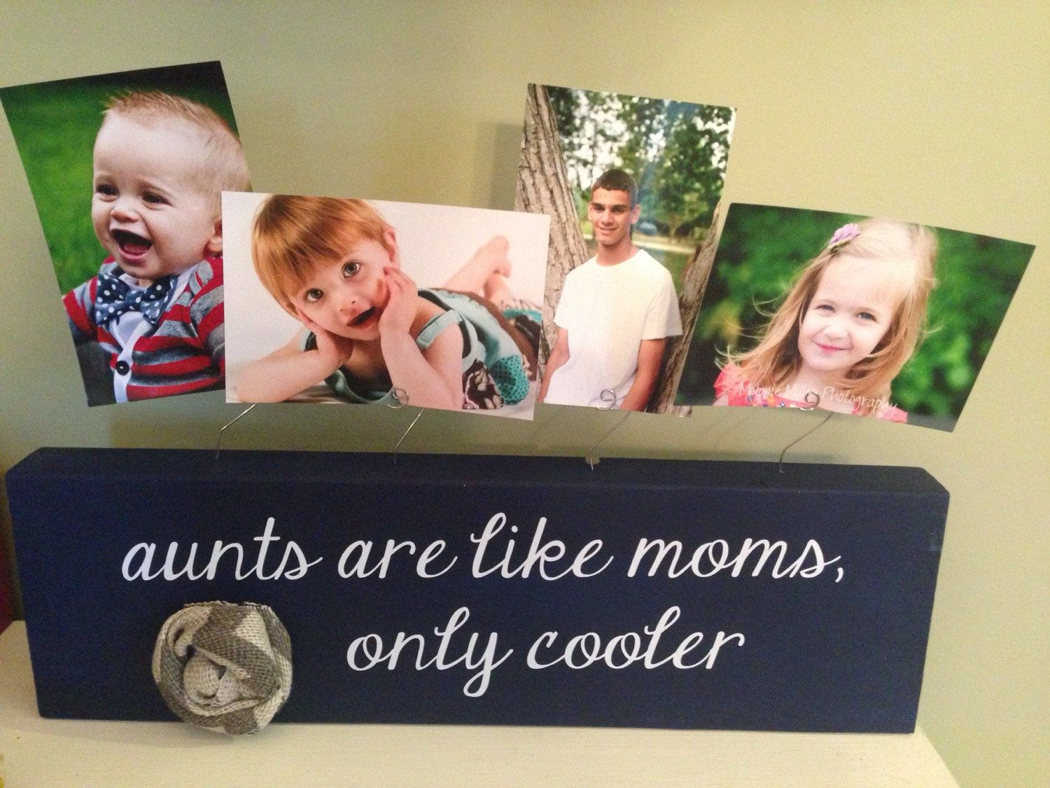 Personalized Picture Frame Aunt Like Mom Only Cooler Board Aunt Gift