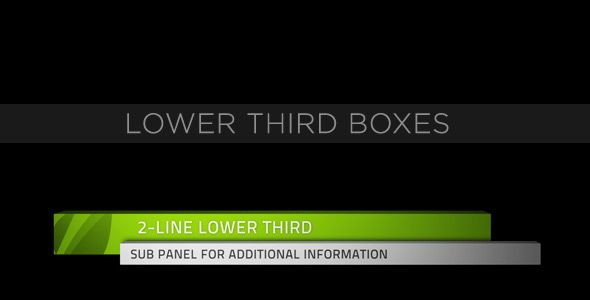 Lower Third Boxes | After effects, Videos and Projects