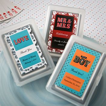 Personalized Playing Card Favor Marquee Design