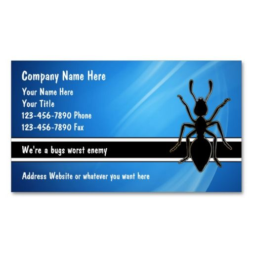 Pest Control Business Cards Zazzle Com Pest Control Business Cards