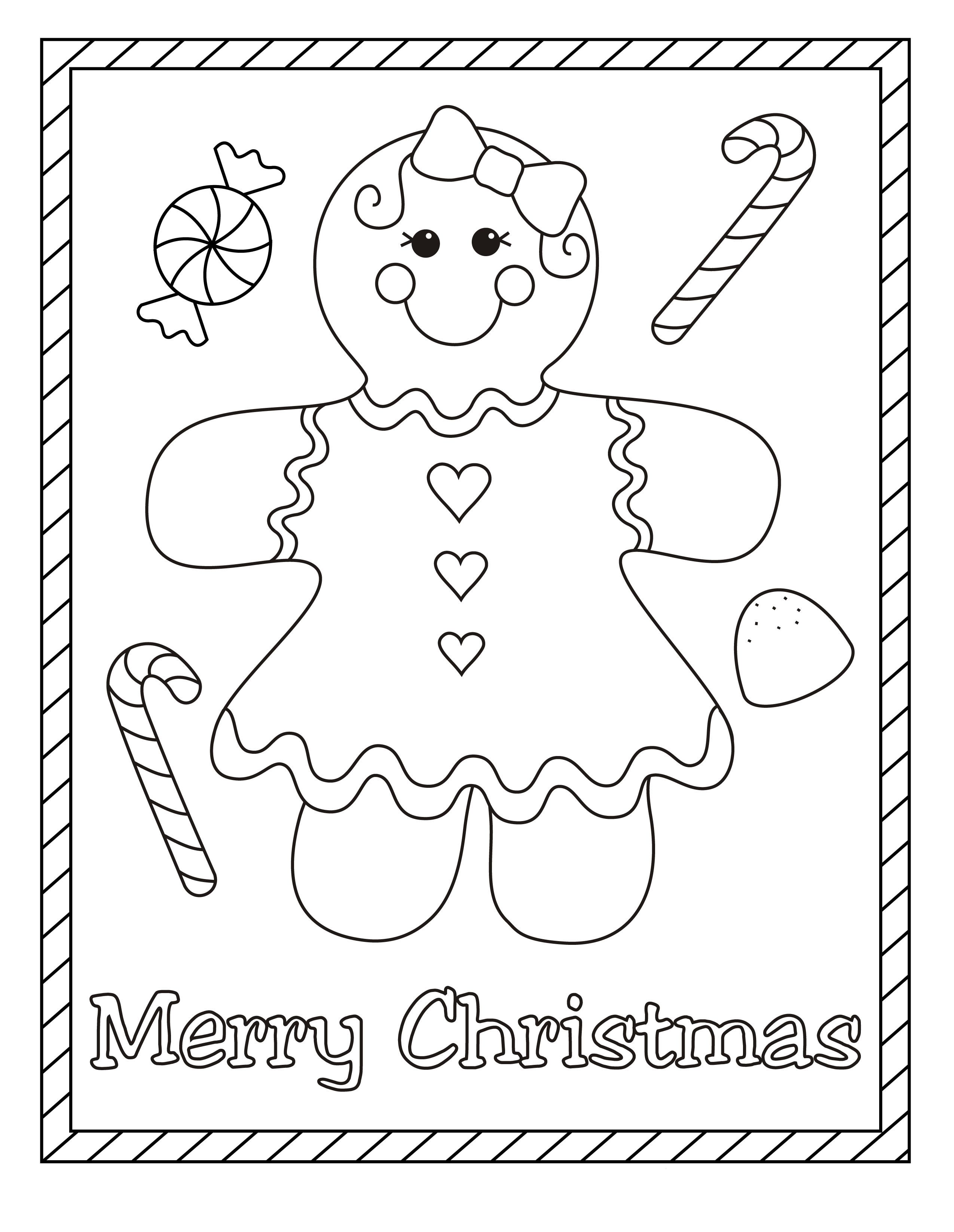 ginger bread girl Coloring page for kids Craft Ideas for