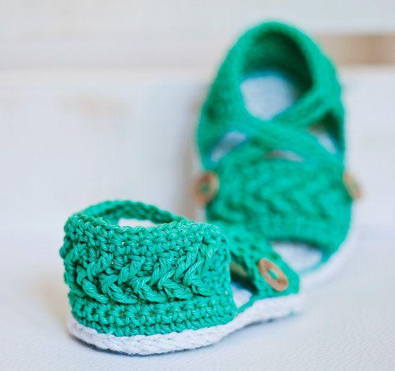 Crochet PATTERN - Chevron Sandals