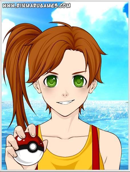 Anime. Misty  water pokemon trainer  Made with Rinmaru mega anime avatar