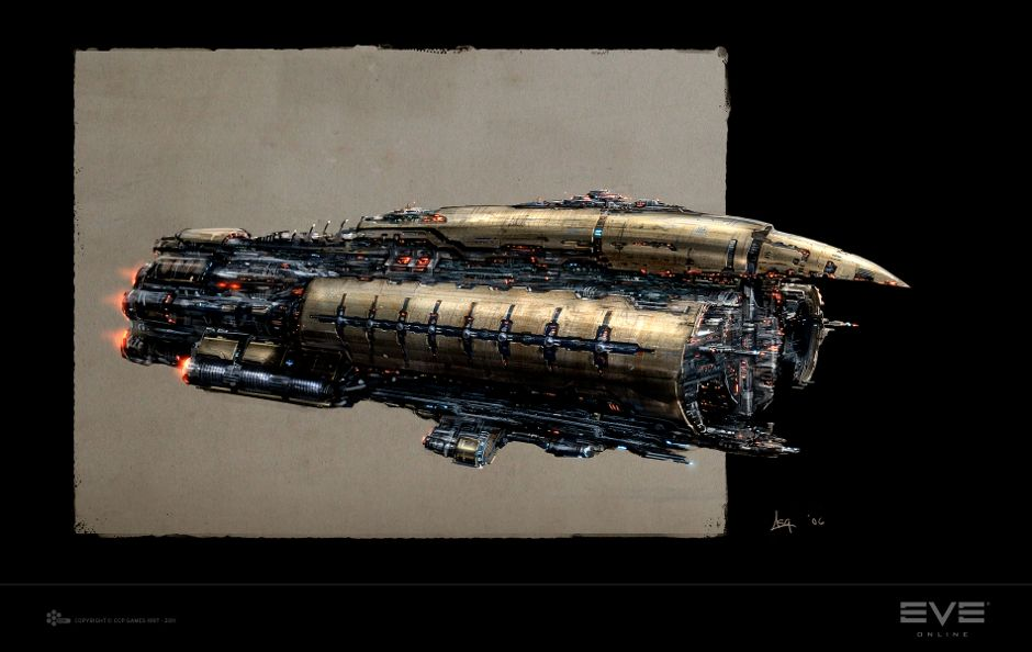 Connu Rokh Battleship Concept - Concept Art - EVE Online   Design  IY18