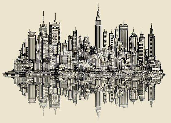 dibujos de new york a lapiz  Buscar con Google  Dibujos