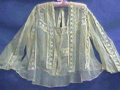 Antique Lace Victorian Edwardian Blouse Exquisite Lace Ornate 38 Bust Label   eBay