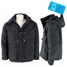 Men's Parka Hooded Jacket- Black- DOC6 Make a smart addition to your winter wardrobe with this great padded parka coat. With a fleece panel inner, this cosy piece has a versatile and minimalist aesthetic to ensure you can wear this coat again and again with all outfits.   • 2 front pockets • Zip and button through fastening • Detachable hood   #wholesaleclothing #mensparka  www.topdowntrading.co.uk