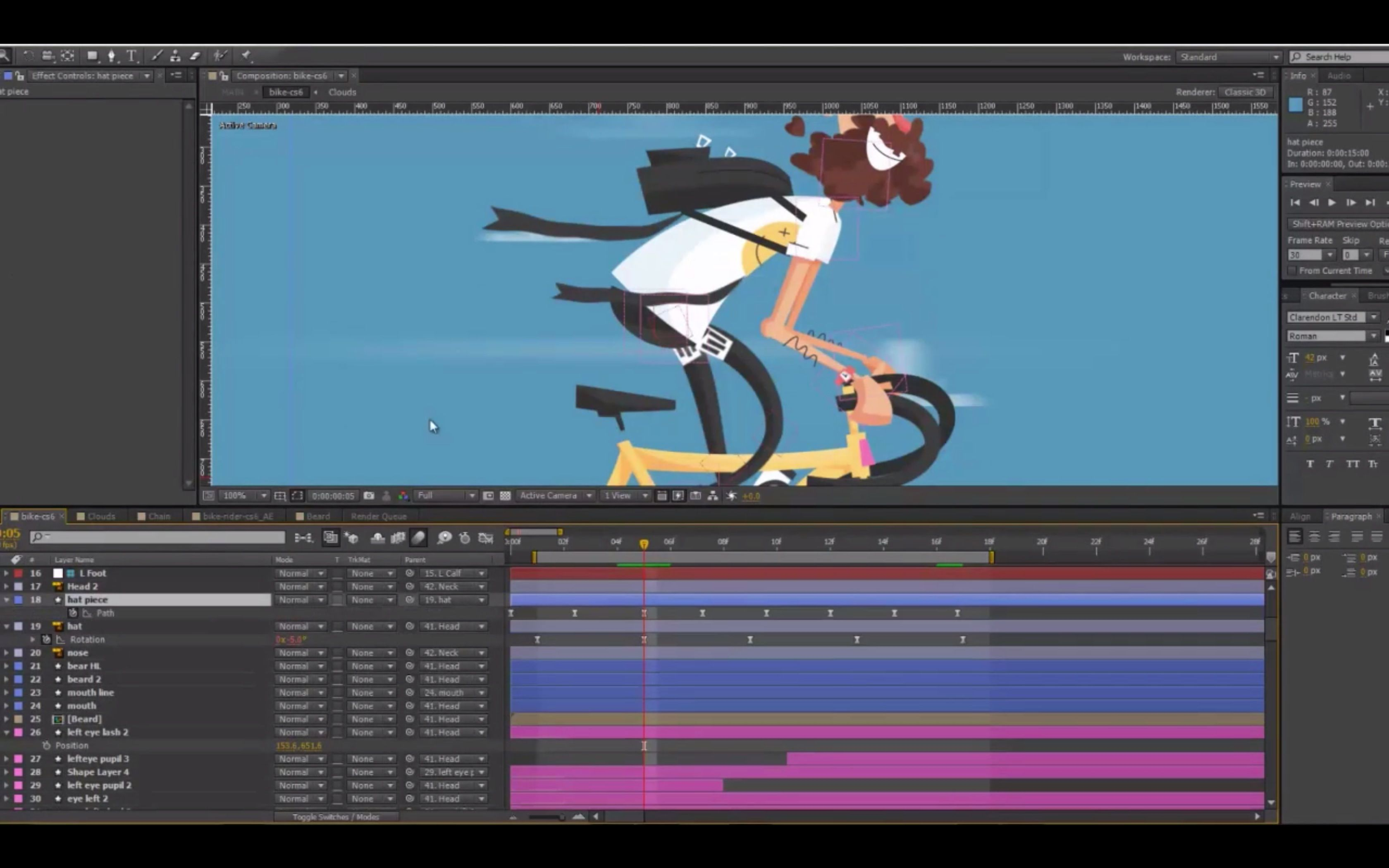 Hipster Bike Rider After Effects Motion Graphics Motion Graphics Tutorial Motion Design Animation