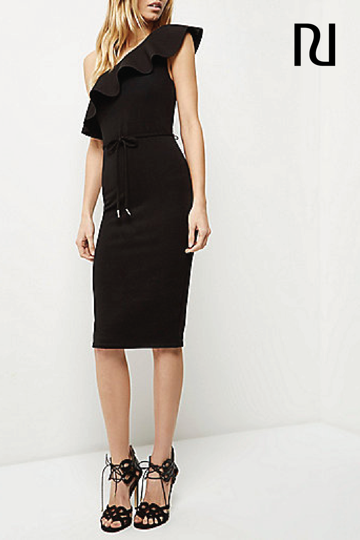 Black Ruffle Asymmetric Bodycon Dress Bodycon Dresses Dresses Women Asymmetric Bodycon Dress Prom Heels Womens Dresses [ 1800 x 1200 Pixel ]