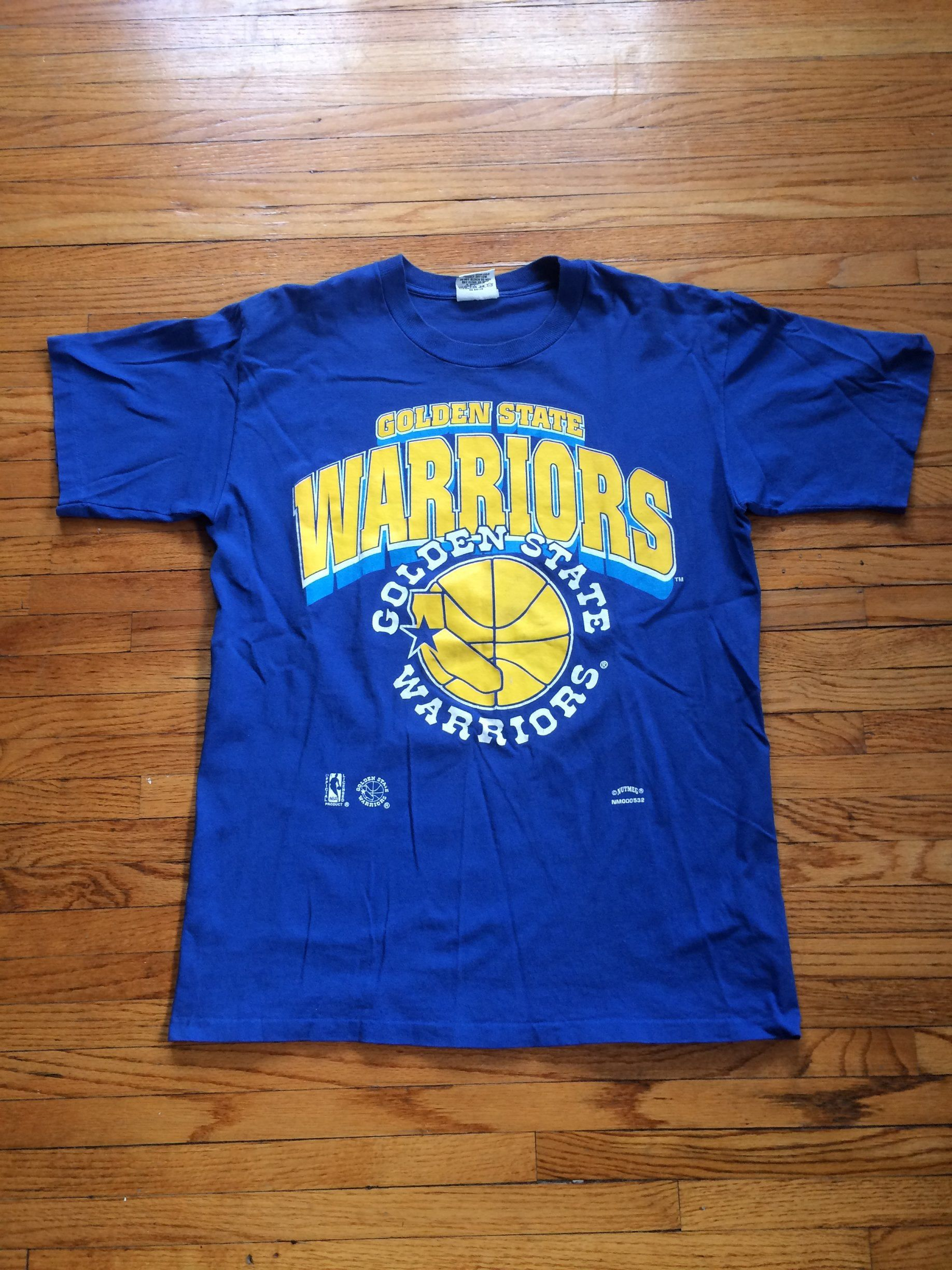 watch c35ec d0243 Vintage Nutmeg Mills Golden State Warriors NBA Basketball T ...