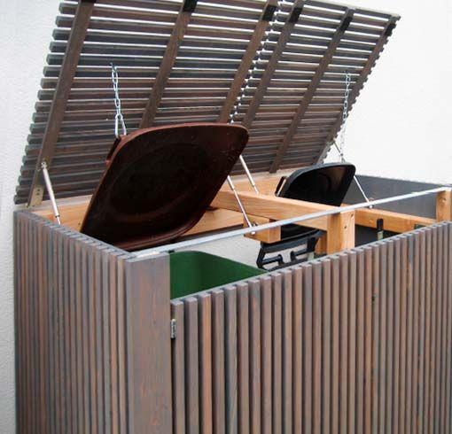 Photo of Design Mülltonnenbox & exklusive Mülltonnenverkleidung i Holz