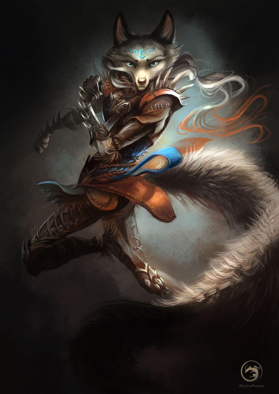 Wolftale Dragon Rider by AlectorFencer fighter ranger ...