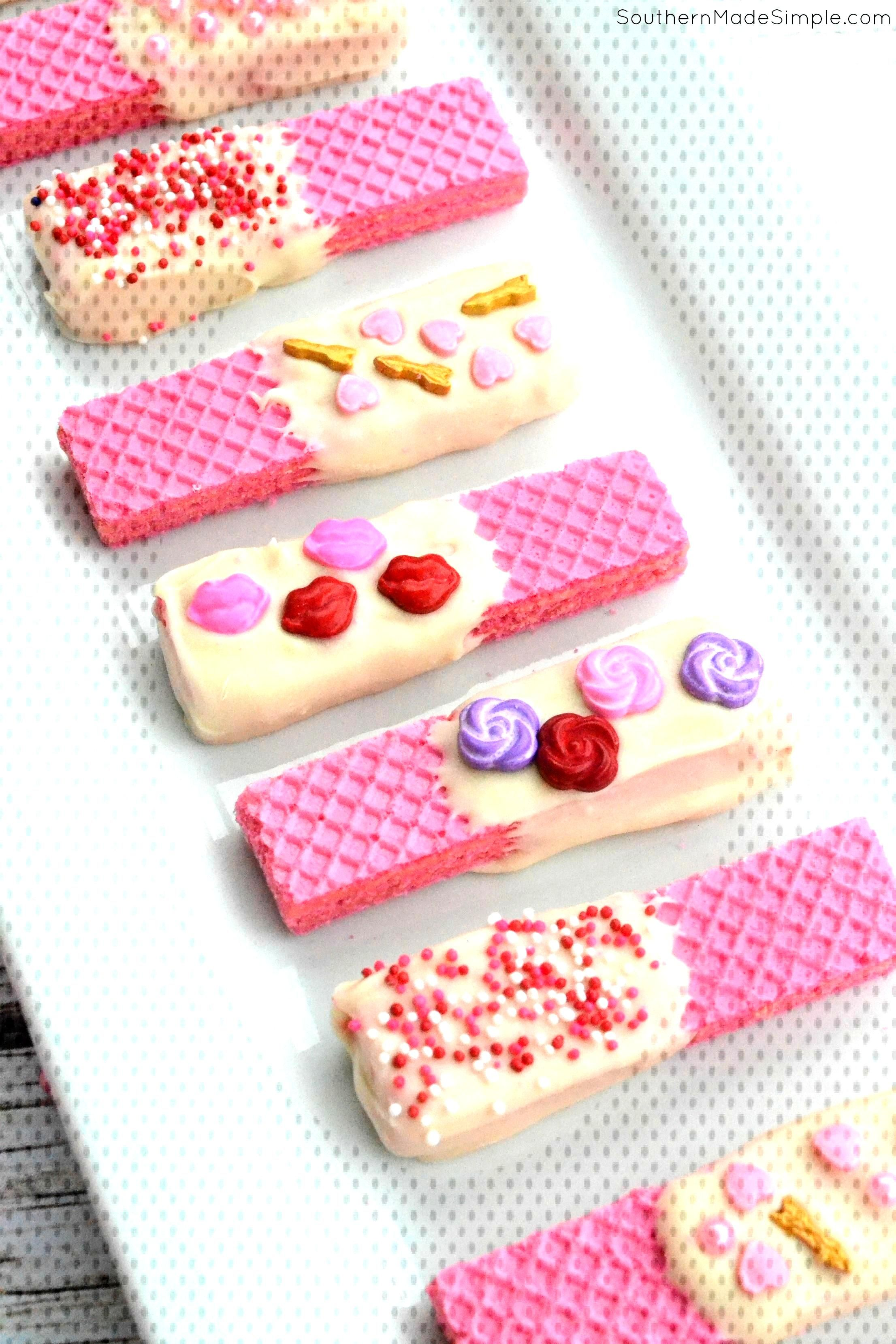 Strawberry Valentine Sugar Wafers - Southern Made Simple Strawberry Valentine Sugar Wafers - Southe