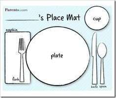 Kids Placemats Templates Google Search Table Manners